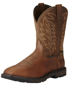 Ariat Men's Groundbreaker Metguard ST Work Boots, Brown, hi-res