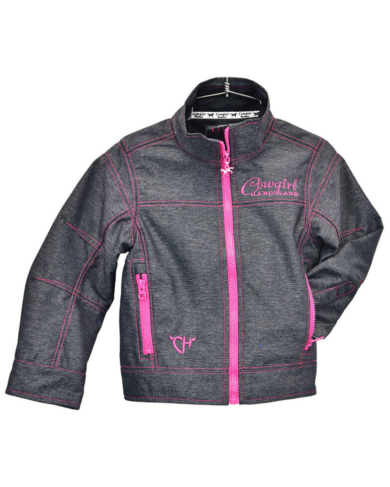 Cowgirl Hardware Girls' Charcoal Tech Berry Woodsman Jacket, Charcoal, hi-res