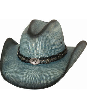 Bullhide Women's Into You Straw Hat, Blue, hi-res