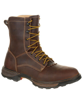 Durango Men's Maverick Waterproof Lacer Work Boots - Round Toe, Pecan, hi-res