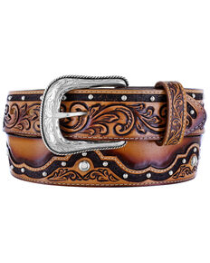 Tony Lama Men's The Alamo Western Belt, Brown, hi-res