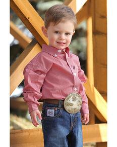 183a0bc6f Cinch Toddler Boys Geo Print Long Sleeve Western Shirt , Multi, hi-res