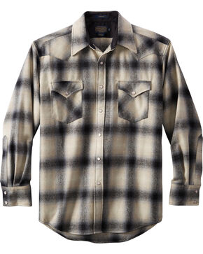 Pendleton Men's Canyon Ombre Plaid Shirt , Black, hi-res