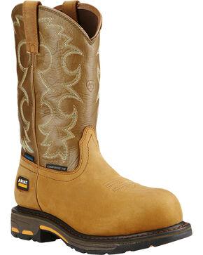 Ariat Women's Tan Workhog H2O Western Work Boots, Aged Bark, hi-res
