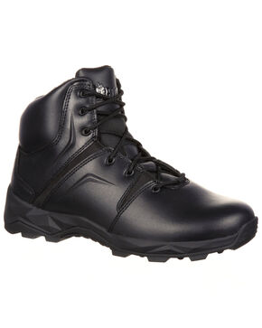 Rocky Men's Elements of Service Duty Boots - Round Toe, Black, hi-res