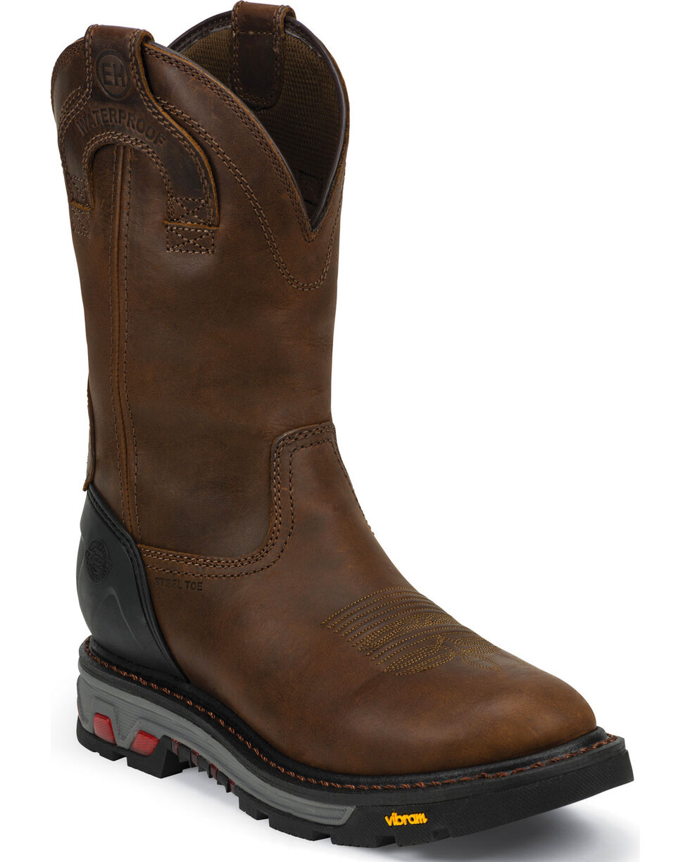 Justin Men's Commander X5 Wyoming Waterproof Boots, Brown, hi-res