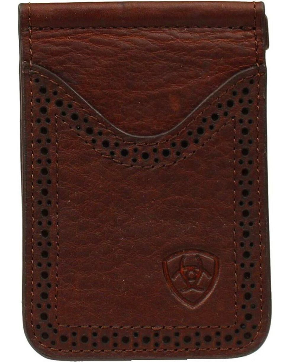 Ariat Card Case Clip Wallet, Copper, hi-res