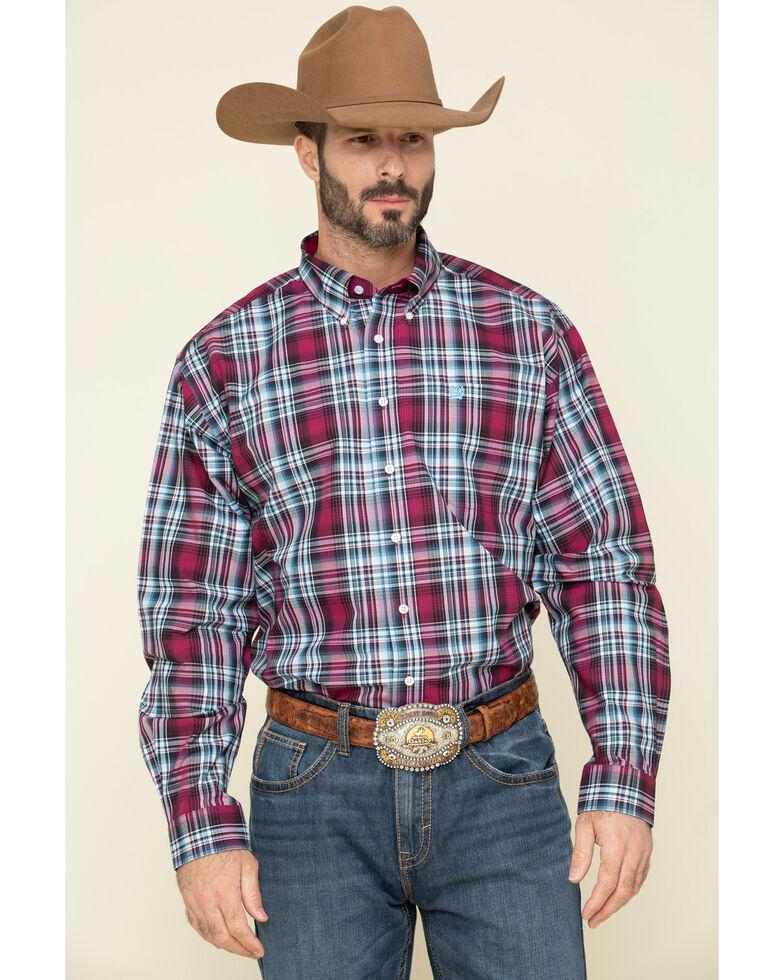Cinch Men's Multi Large Plaid Button Long Sleeve Western Shirt , Multi, hi-res