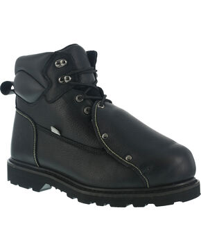 Iron Age Men's Ground Breaker Steel Toe Met Guard Work Boots, Black, hi-res