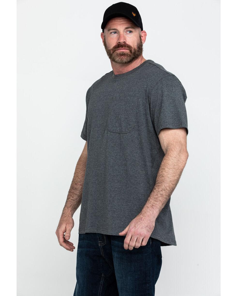 Hawx® Men's Pocket Crew Short Sleeve Work T-Shirt - Tall , Charcoal, hi-res