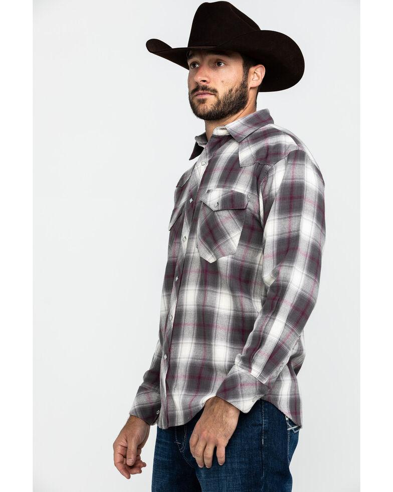 Resistol Men's Brazos Ombre Large Plaid Long Sleeve Western Shirt , Lt Brown, hi-res