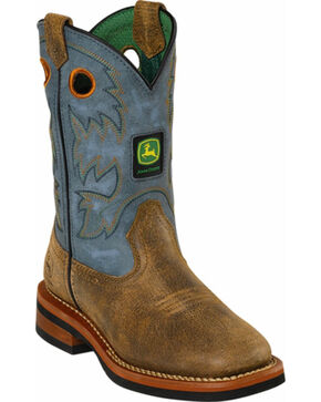 John Deere® Children's Johnny Popper Chaos Western Boots, Tan, hi-res