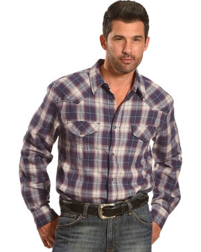 Cody James® Men's Plaid Printed Long Sleeve Shirt , Grey, hi-res