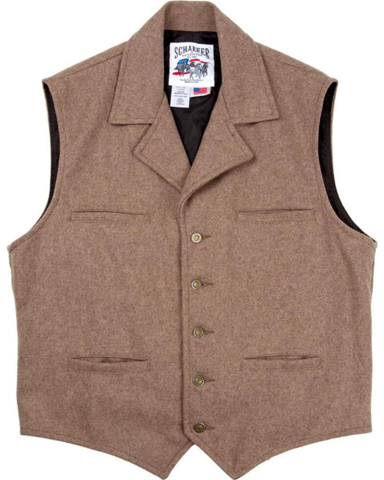 Schaefer Men's 805 Cattle Baron Vest, Taupe, hi-res