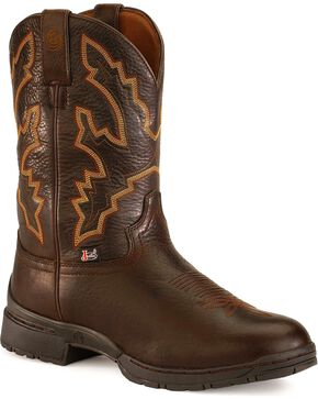 George Strait by Justin Men's 3.1 Series Waterproof Western Boots, Chestnut, hi-res