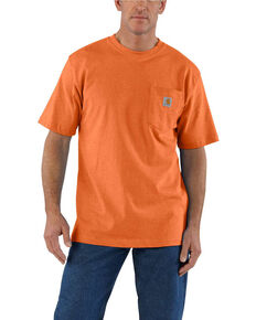 Carhartt Men's Orange Workwear Pocket Short Sleeve T-Shirt - Big , Heather Orange, hi-res