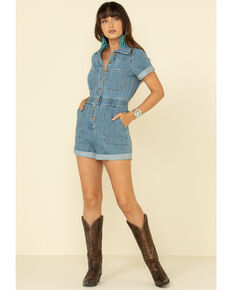 Show Me Your Mumu Women's Cannon Romper, Blue, hi-res