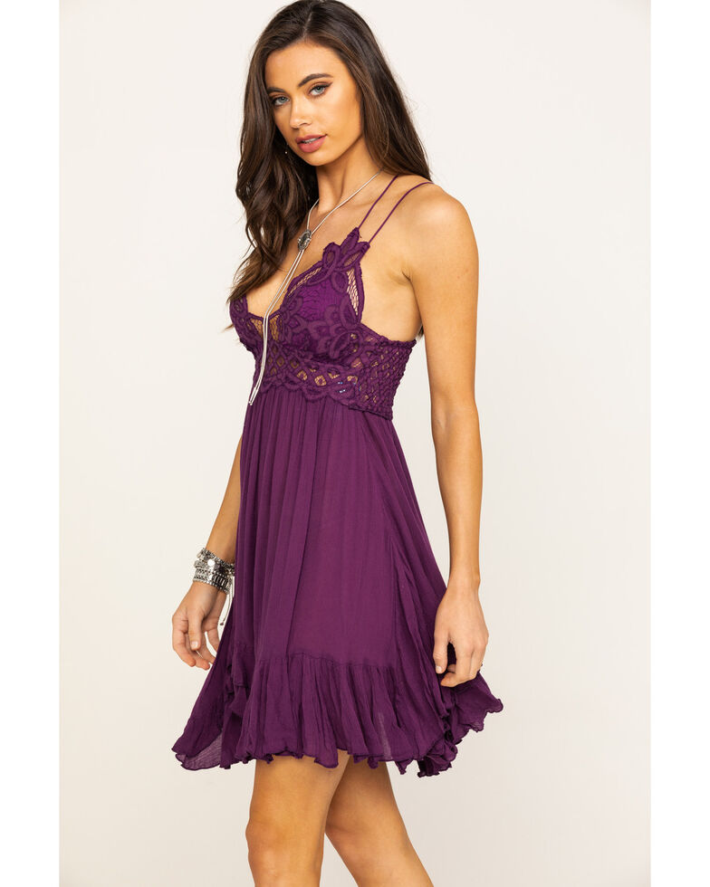 Free People Women's Adella Slip Dress, Violet, hi-res