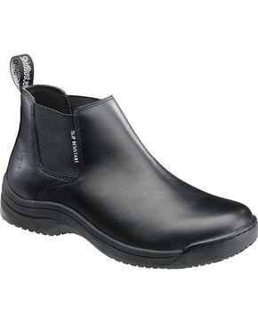 SkidBuster Men's Slip Resistant Pull-On Shoes, Black, hi-res