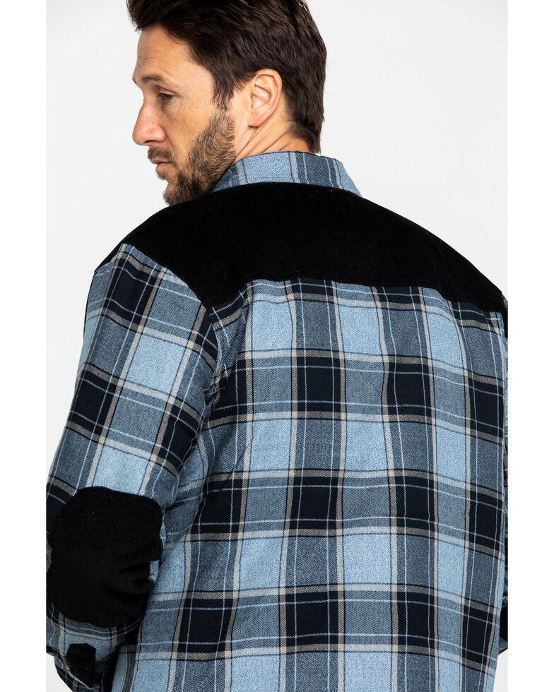 Moonshine Spirit Men's Goleta Plaid Mixed Flannel Nylon Shirt Jacket , Blue, hi-res