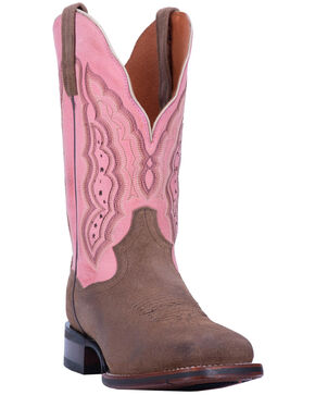 Dan Post Women's Claire Western Boots - Wide Square Toe, Brown, hi-res