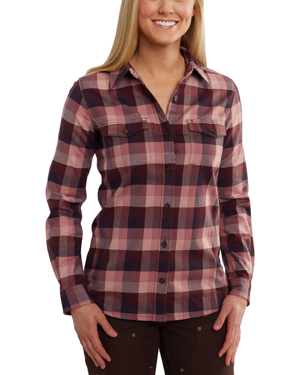 Carhartt Women's Purple Rugged Flex Hamilton Shirt , Purple, hi-res