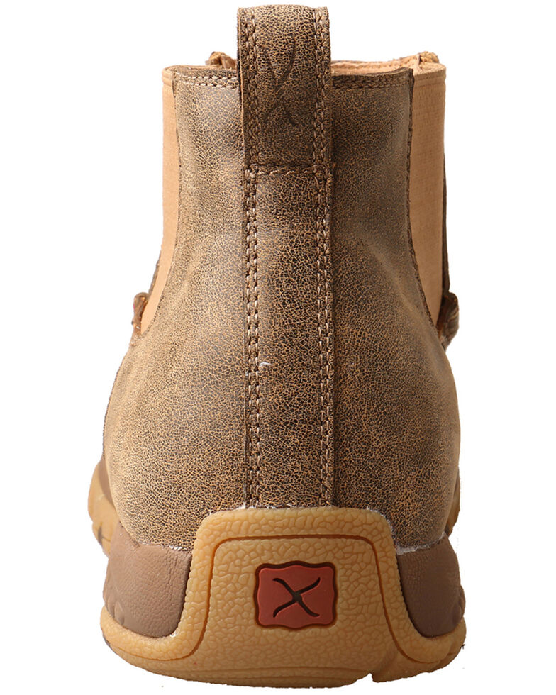Twisted X Men's CellStretch Double Gore Driving Shoes - Moc Toe, Brown, hi-res