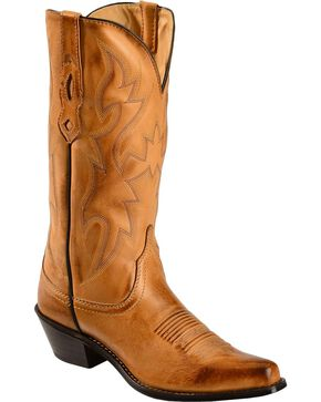 Nocona Women's Deertanned Snip Toe Western Boots, Tan, hi-res