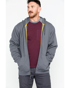 Hawx Men's Zip-Front Work Hoodie, Charcoal, hi-res