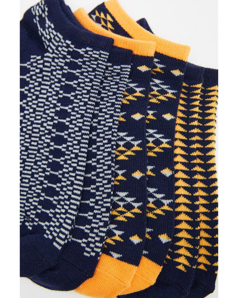 Shyanne Women's No Show Aztec Socks - 3 Pack, Multi, hi-res