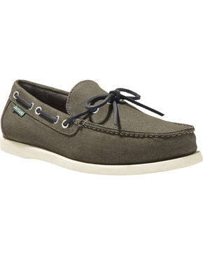 Eastland Men's Yarmouth Canvas Camp Moc - Slip On , Black, hi-res