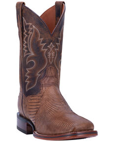 Dan Post Men's Thompson Western Boots - Wide Square Toe, Tan, hi-res