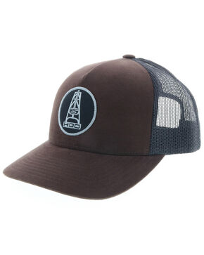 HOOey Men's Brown Oil Money Trucker Cap, Brown, hi-res