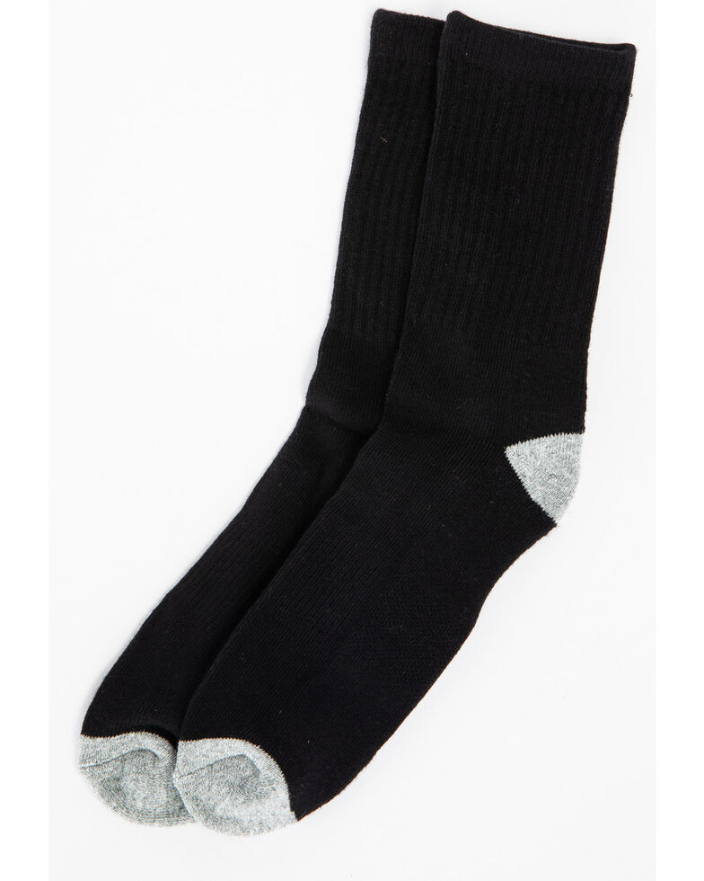 Cody James Boys' Solid Basics 3-Pack Crew Socks, Black, hi-res