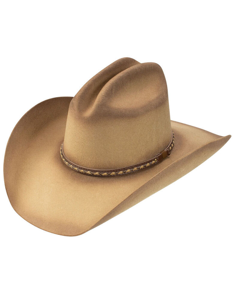 Resistol Pecan 4X Dirt Road Wool Felt Western Hat, Pecan, hi-res
