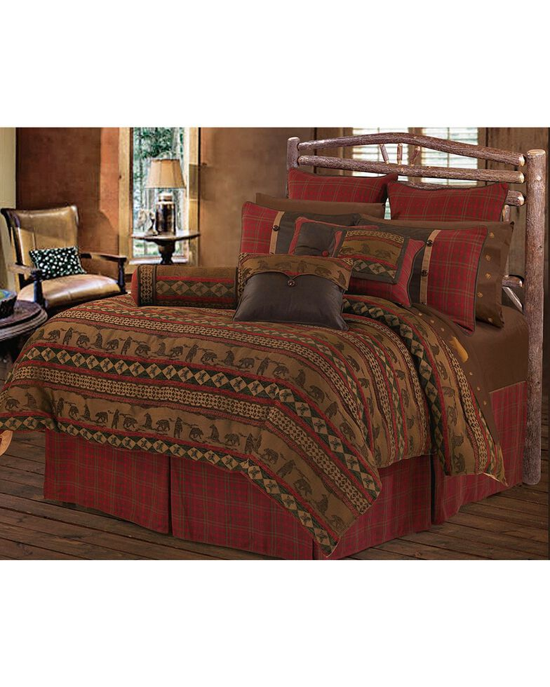 HiEnd Accents 5-Piece Full Cascade Lodge Comforter Set, Multi, hi-res