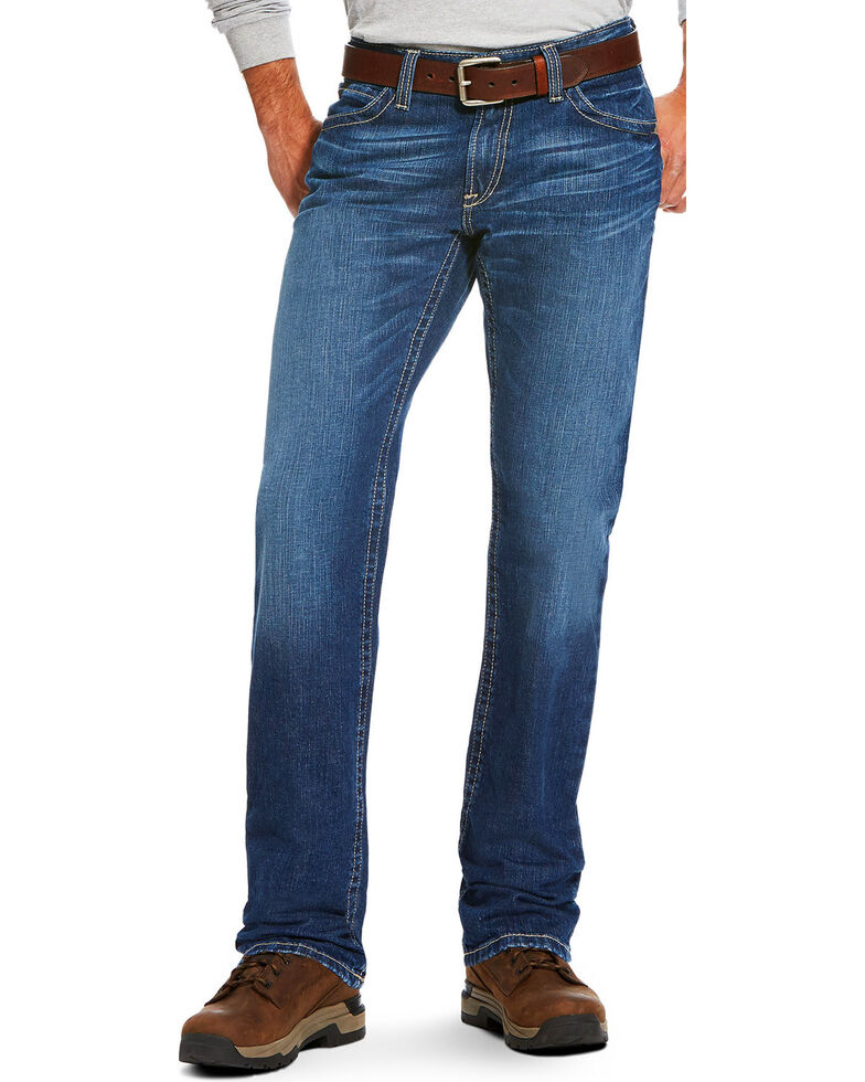 Ariat Men's FR M4 Stitched Incline Titanium Wash Bootcut Jeans , Charcoal, hi-res