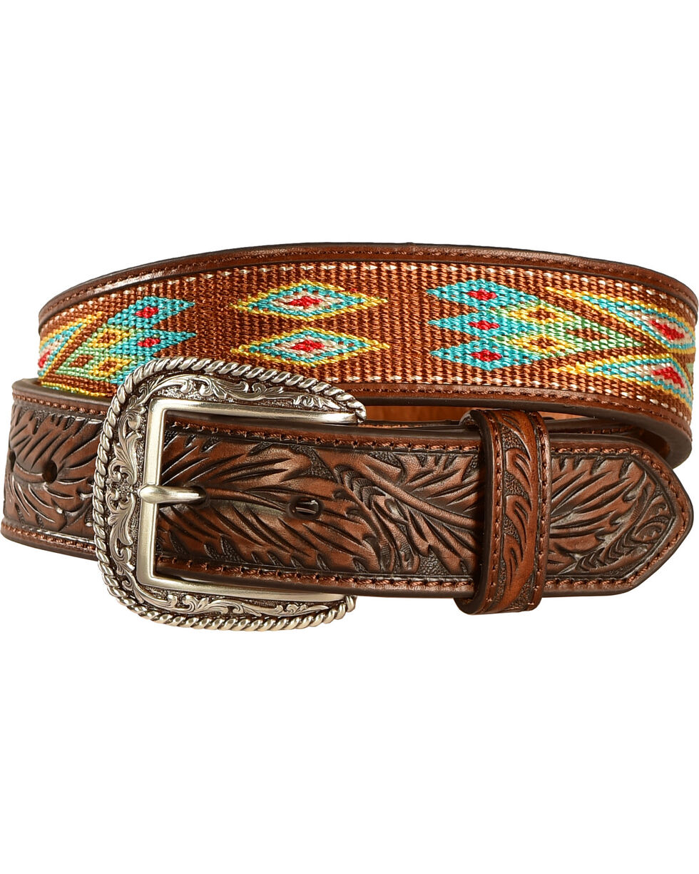Ariat Men's Ribbon Inlay Belt, , hi-res