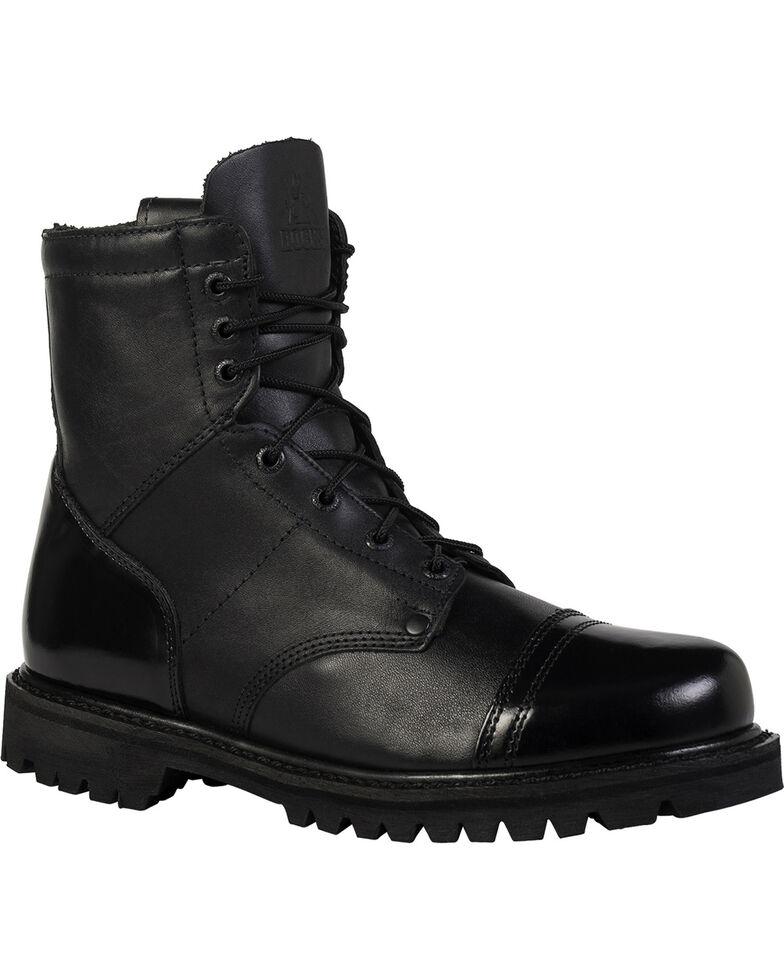 Rocky Men's Side Zipper Duty Boots, Black, hi-res