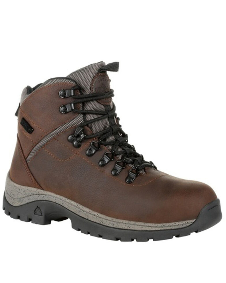 Rocky Men's Versatrek Waterproof Work Boots - Soft Toe, Brown, hi-res