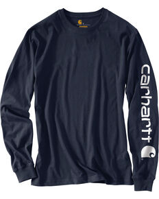 Carhartt Men's Long Sleeve Graphic T-Shirt, Navy, hi-res