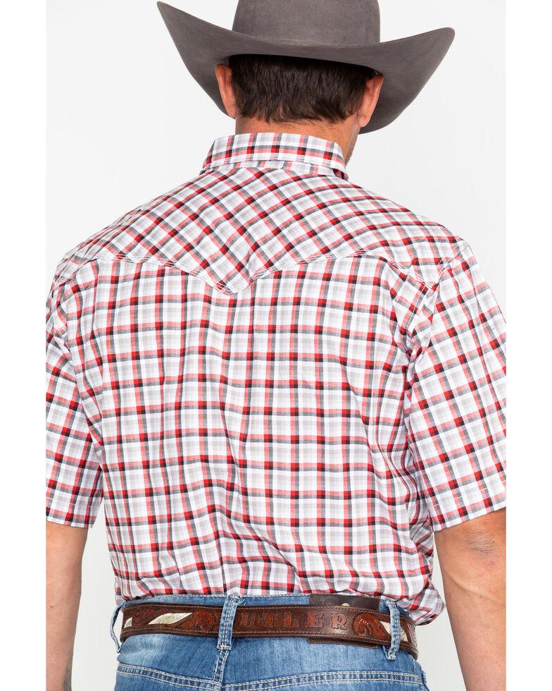 Wrangler 20X Men's Plaid Competition Comfort Short Sleeve Western Shirt, Black/red, hi-res