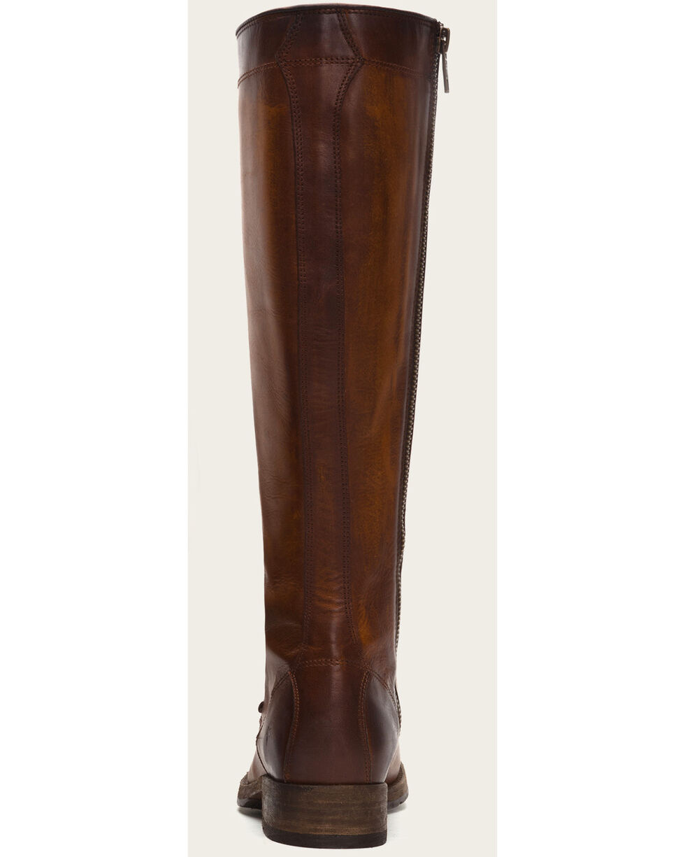 Frye Women's Cognac Melissa Tall Lace Boots - Round Toe , , hi-res