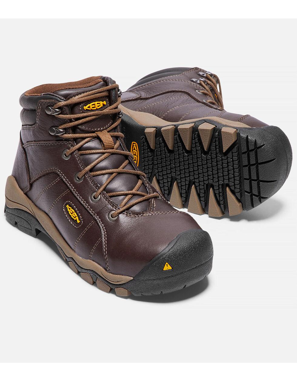Keen Women's Santa Fe Work Boots - Aluminum Toe, Brown, hi-res