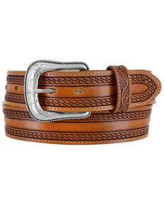Tony Lama Men's Wild Bill Western Belt, Brown, hi-res