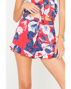 Others Follow Women's Red Americana Peachy Shorts , Red/white/blue, hi-res