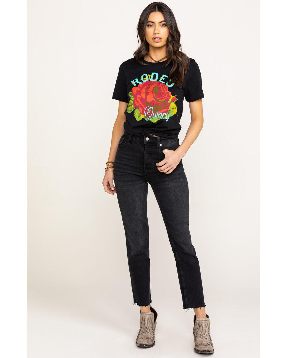 Rodeo Quincy Women's Rose Graphic T-Shirt , Black, hi-res