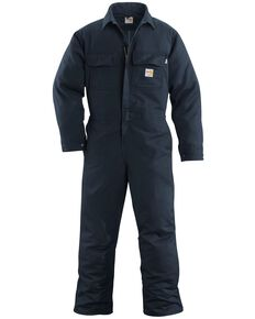 Carhartt Flame Resistant Work Coveralls - Big & Tall, Navy, hi-res