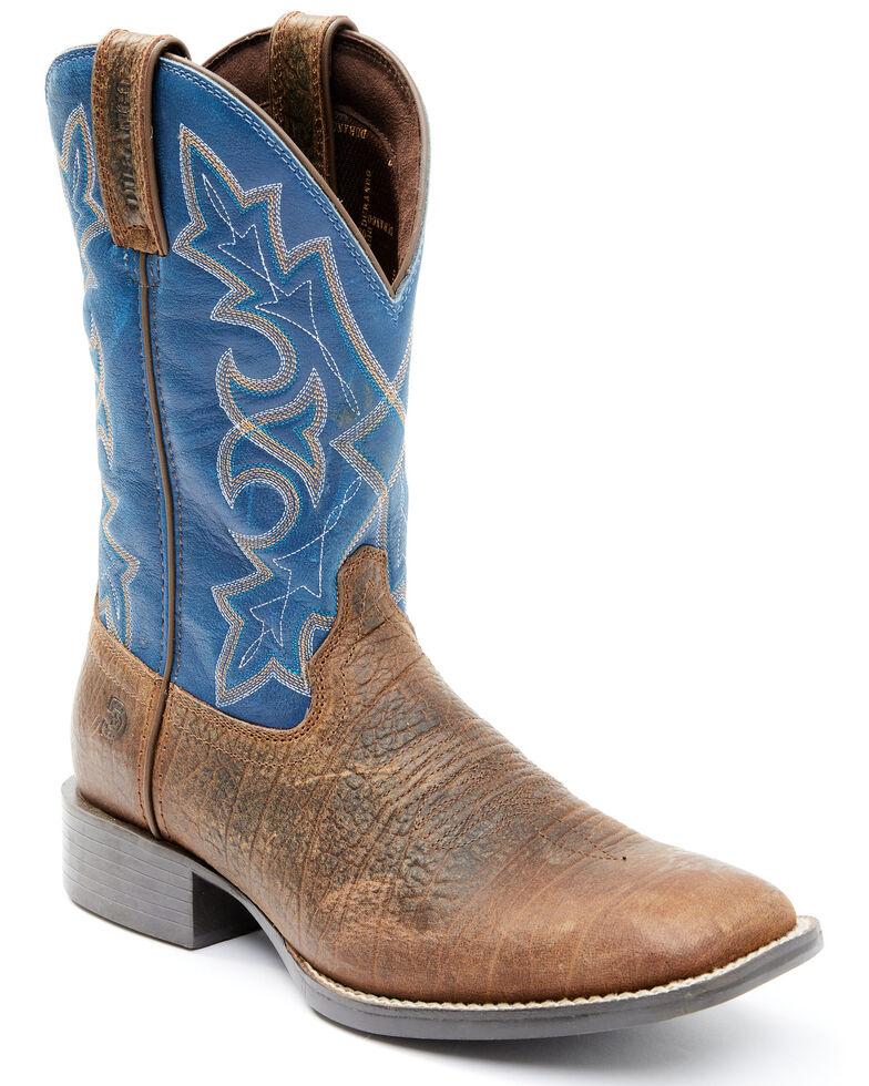 Durango Men's Brown Westward Western Boots - Wide Square Toe, Brown, hi-res