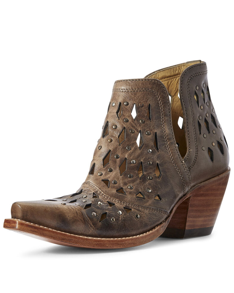 Ariat Women's Dixon Studded Fashion Booties - Snip Toe, Brown, hi-res